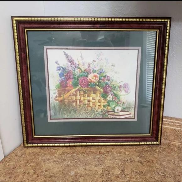 Home Interior Basket Of Flowers Framed Print